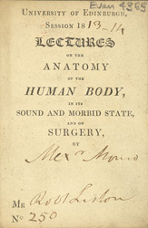 Ticket for an anatomy lecture 4365